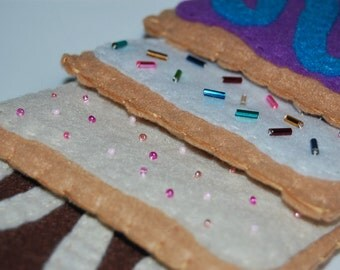 Felt Poptarts (Set of 4) - Felt Food - Felt Food Set - Pretend Kitchen Set - Kids Toy - Play Food - Tea Party - Felt Breakfast - Play Foods