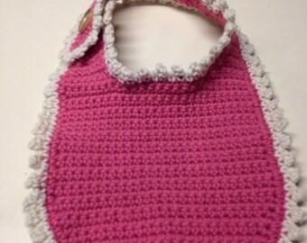 Hand Made Crocheted Baby Bib