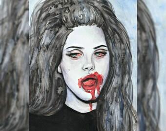 LANA DEL REY original painting