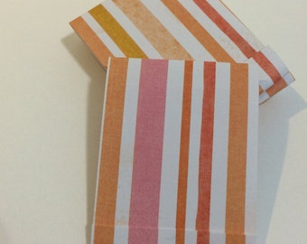 Candy Stripes Mini Matchbook Notepad Notebook | Set of 6 Memo Pads | Gift or Party Favor | Stocking Stuffer