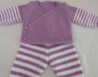 All pants and cache heart purple and white 3 months