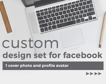 Custom Facebook Graphics Design Set - 1 Cover Photo and Profile Avatar