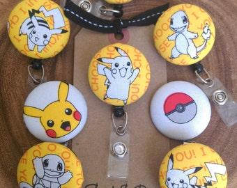 Pokemon Badge Reel Retractable - I Choose You