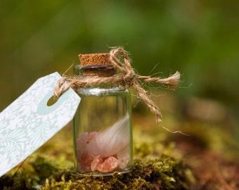 White rose healing gift bottle