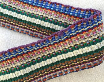 FREE SHIPPING Inkle Woven Ribbon, Inkle Weaving, Costume Trim, Inkle Band