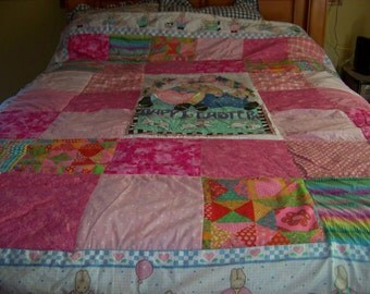 Happy Easter Pink Quilt