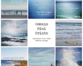 Oceans mini prints
