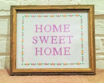 Home Sweet Home Cross Stitch Design