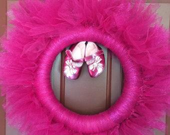 Pink Sparkles LIttle Girl Wreath