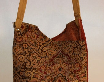 Large Fabric Bag with Eastern Print Item #B52