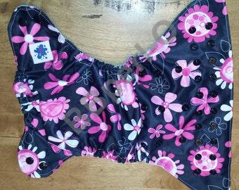one size Swim Diaper, water diaper, washable swim diaper, reusable swim diaper - flower