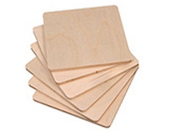 Decoupage coasters to decorate, set of 6 pieces in wood, cm 12 x 12