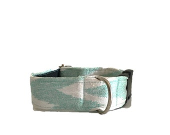 Zig zag with buckle or martingale dog collar