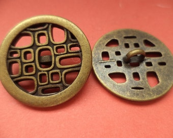 6 metal buttons bronze 24 mm (5078) buttons metal knob jacket buttons