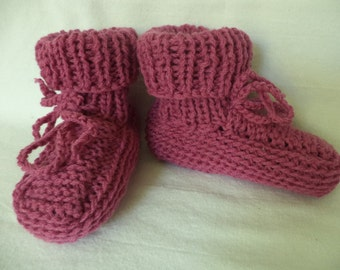 Baby boots knitted wool baby booties