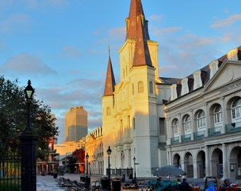 St. Louis Cathedral at Sunrise, New Orleans, LA