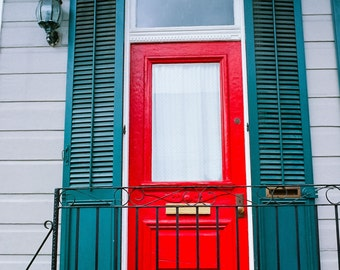 New Orleans French Quarter Red Door