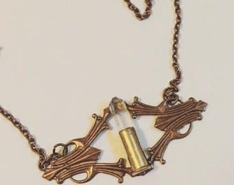 Crystal filagree necklace