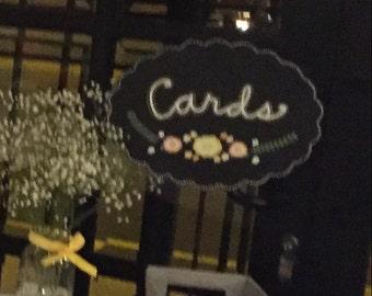 Wedding Card/Gift Chalkboard