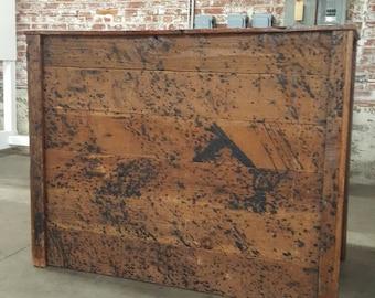 Reclaimed Wood Portable Bar.