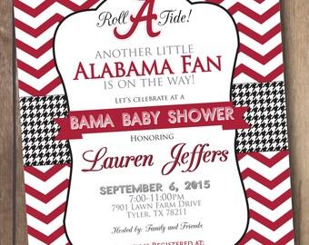 Alabama Baby Shower - Bama Baby - Printable