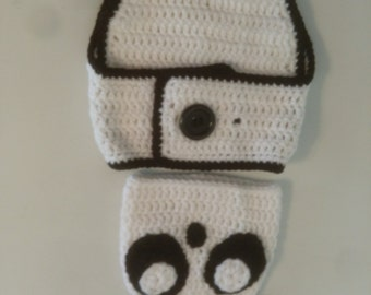 panda diaper cover set