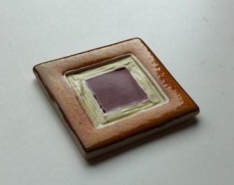 Ceramic Handmade tile, backsplash accent tiles, Decorative tile, Model - Squair in squair - TCss-001