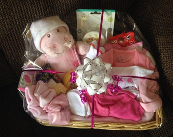 New Baby Hamper - Available in Pink, Neutral or Blue