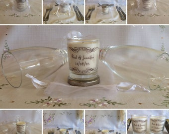 Personalised Soy Wax Votive Wedding Favours