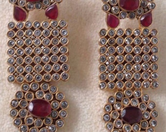 Kundan Ruby earrings