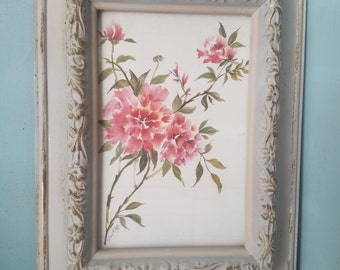 Grey antiqued  picture frame 5x7
