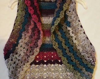 Colorful Crocheted Vest