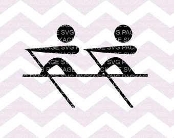 SVG Cutting File, Rowing Clipart, Boat SVG, Png rowing, Clipart, Rowing cutting file, Rowing SVG, race Svg, boat cutting file, Swimming Svg