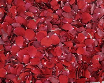 Red Rose Petals. 30 cups.  Flower Petals. Flower Confetti. Wedding Petals. Flower Girl Petals. Dried Flower Confetti. Petals. Made in USA