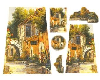 Decoupage Rice Paper - Arch Landscape Stamperia