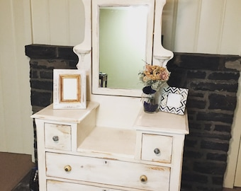 """SOLD- Refinished Dresser in """"Antique White"""""""