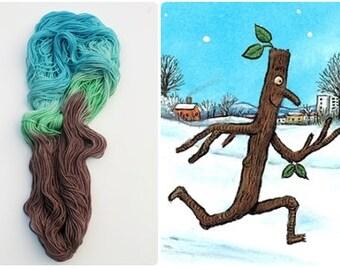 100g hand dyed yarn 'Stick Man' 100% merino /MCN / DK / sock weight / hand dyed yarn / indie dyer / sock yarn / crochet / knit