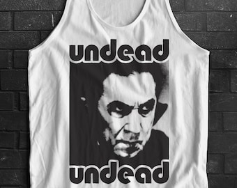 Bela Lugosi's Dead Dracula Vampire Undead Undead Inspired Bauhaus Post Punk UK Tank Top Sleeveless T-Shirt Top Vest All Sizes And Colours