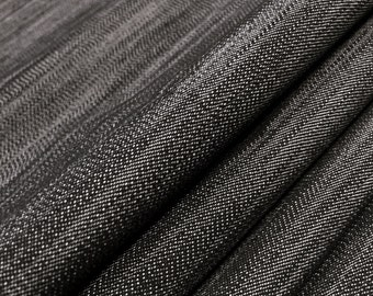 Stretchy Denim Fabric By the Yard (Wholesale Price Available By the Bolt) Premium Quality - 10053 Black- 1 Yard