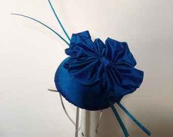 Bespoke Aqua fascinator