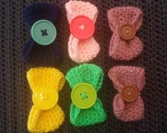 button bow clips