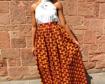 """Maxi Skirt """"DIVA"""" - Afrikanischer Maxiröck"""