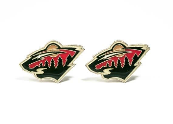 Minnesota Wild Cuff Links -- FREE SHIPPING with USPS First Class Domestic Mail
