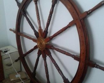 Large Ornamental Ships Wheel