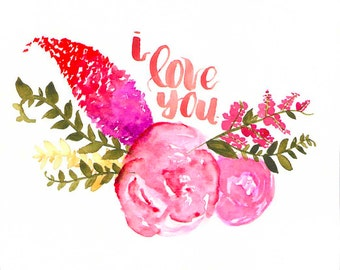 I Love You Floral - Original 7x7