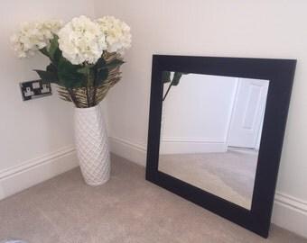 Black wood frame mirror 500 x 500