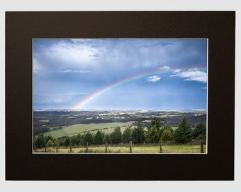 Yarra Valley Rainbow Photography Landscape, Matted Print From The Dandenong Ranges Fine Art