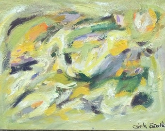 Abstract Oil Painting on Masonite