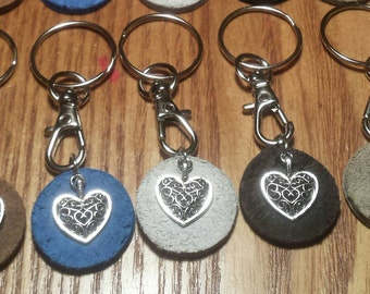 Essential Oil Diffuser Heart Keychain