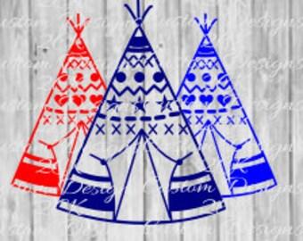 3 teepees